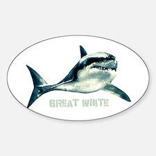 Great White Sticker (Oval)