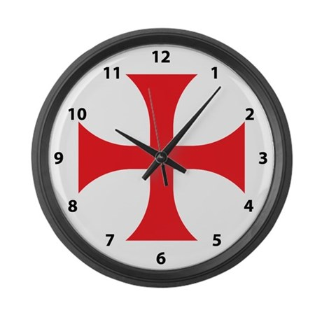 Knights Templar Large Wall Clock