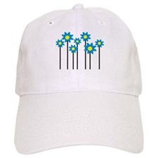 Colored flowers Baseball Cap