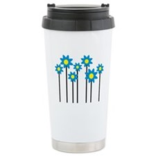 Colored flowers Travel Mug