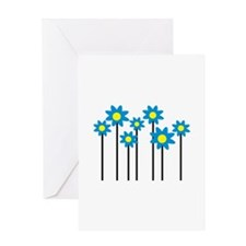 Colored flowers Greeting Card