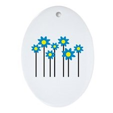 Colored flowers Ornament (Oval)