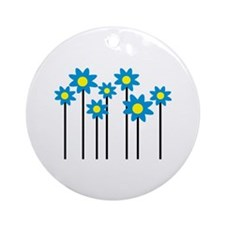 Colored flowers Ornament (Round)