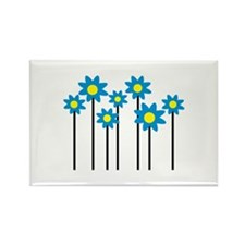 Colored flowers Rectangle Magnet