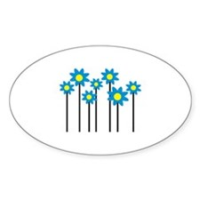 Colored flowers Decal