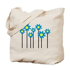 Colored flowers Tote Bag