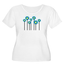 Colored flowers T-Shirt