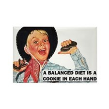 Balanced Diet Rectangle Magnet