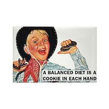 Balanced Diet Rectangle Magnet
