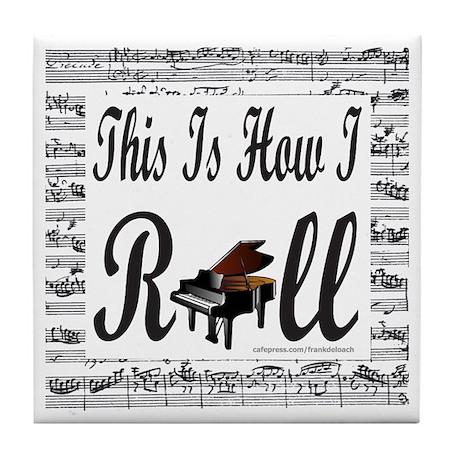 PIANO/PIANIST Tile Coaster