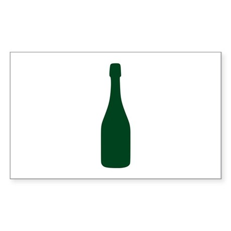Champagne Sticker (Rectangle)