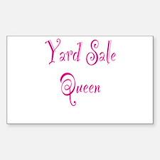 Yard Sale Queen Sticker (Rectangle)