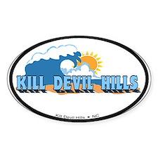 Kill Devil Hills NC - Waves Design Decal