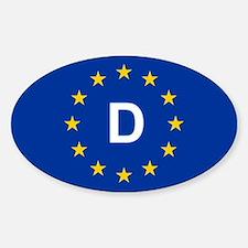 EU Germany Sticker (Oval)