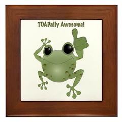 Toadally Awesome! Framed Tile