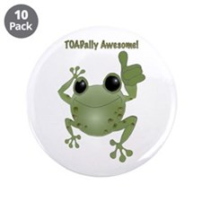 """Toadally Awesome! 3.5"""" Button (10 pack)"""