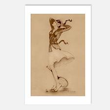 1930's Tennis Girl - Tennis Postcards (Pk of 8)