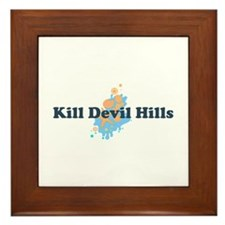 Kill Devil Hills NC - Seashells Design Framed Tile
