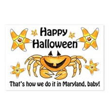 Maryland Halloween Party Postcards (Package of 8)