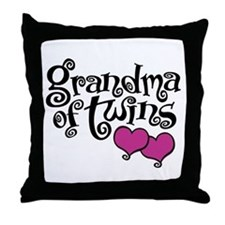 Grandma of Twins Throw Pillow