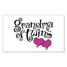 Grandma of Twins Decal