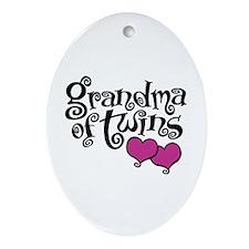 Grandma of Twins Ornament (Oval)