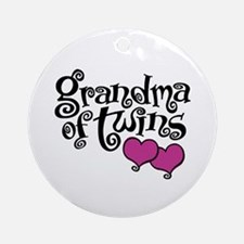 Grandma of Twins Ornament (Round)