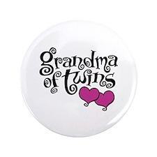 "Grandma of Twins 3.5"" Button"