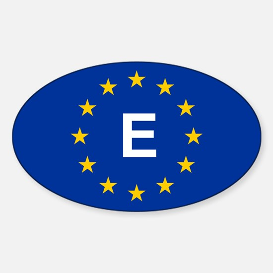 EU Spain Sticker (Oval)