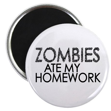"Zombies at my Homework 2.25"" Magnet (100 pack)"