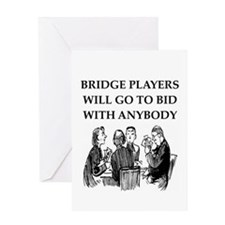 duplicate bridge player Greeting Card