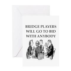 duplicate bridge player Greeting Card