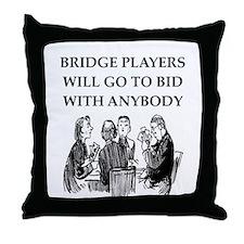 duplicate bridge player Throw Pillow