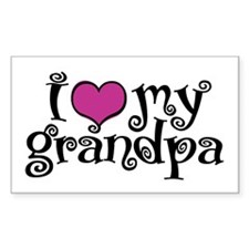 I Love My Grandpa Decal