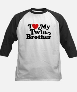 I Love My Twin Brother Kids Baseball Jersey