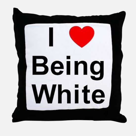 Unique White Throw Pillow