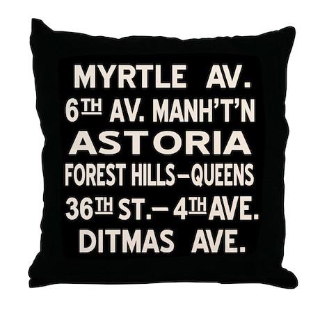 Myrtle Ave BMT Standard Throw Pillow