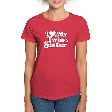 I Love My Twin Sister Women's Dark T-Shirt