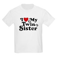 I Love My Twin Sister T-Shirt