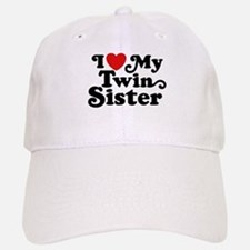 I Love My Twin Sister Baseball Baseball Cap