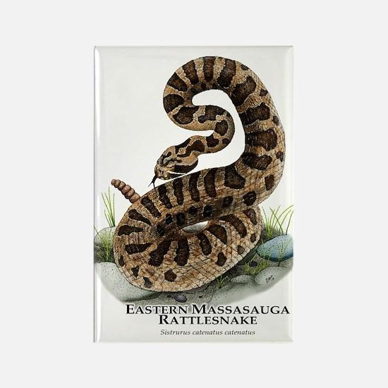 Eastern Massasauga Rattlesnake Rectangle Magnet