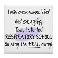 Respiratory Therapy 9 Tile Coaster