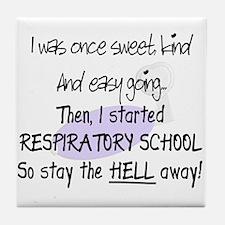 Respiratory Therapy 9 Tile Coaster