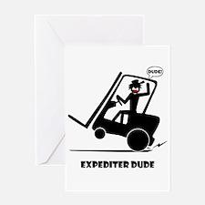 EXPEDITIN' DUDE Cards & Bags Greeting Card