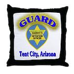 Guard Tent City Maricopa Coun Throw Pillow