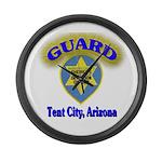 Guard Tent City Maricopa Coun Large Wall Clock