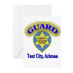 Guard Tent City Maricopa Coun Greeting Cards (Pk o