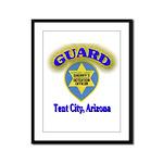 Guard Tent City Maricopa Coun Framed Panel Print