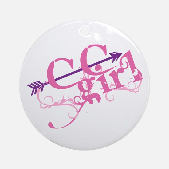 Cross Country Girl Ornament (Round)