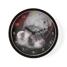 Loveable Ferrets Wall Clock